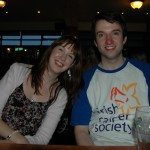 Eoin's girlfriend Gráinne and driver Rob Shiels.