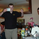 The delighted winner of tickets to Blink 182