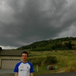 Rob, with a big storm about to hit behind him!