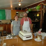 Laurie and her husband Richard, our amazingly organized chefs! Great pancakes!