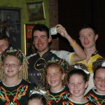 The Team is presented with a $100 bill from the Irish dancers and Marching Society. Thank you!