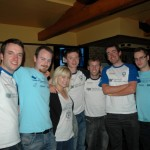 (l-r) Rob, Donal, Lauren, Mark, William, Eoin and Colm.